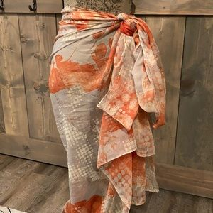 Abstract tree scarf/cover-up/sarong